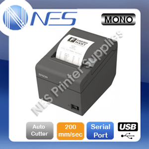 Epson TM-T82II Bulit-in USB+Serial Port POS Thermal Receipt Printer [P/N:C31CD52342]